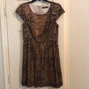Kensie bronze floral dress